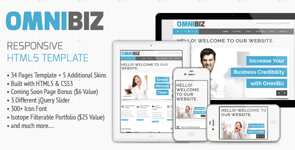 Omnibiz - Responsive Premium Website Template Corporate