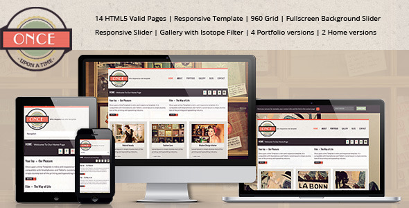 """""""Once ...upon a time""""-Responsive Site Template Creative"""