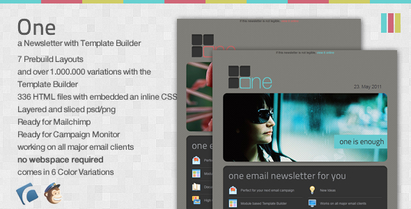 One Email Newsletter with Template Builder EmailTemplates Email Template