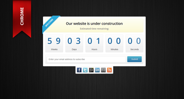 Onyx - Under Construction Template Specialty Page