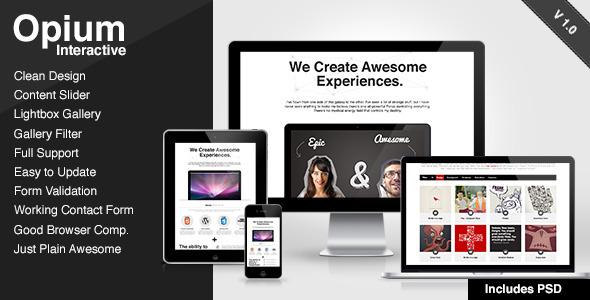Opium Interactive Template Creative