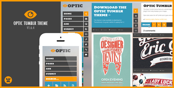 Optic Responsive Tumblr Theme