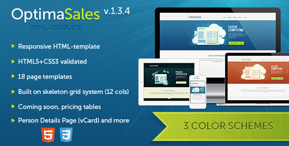 OptimaSales - Responsive HTML5/CSS3 Template Technology