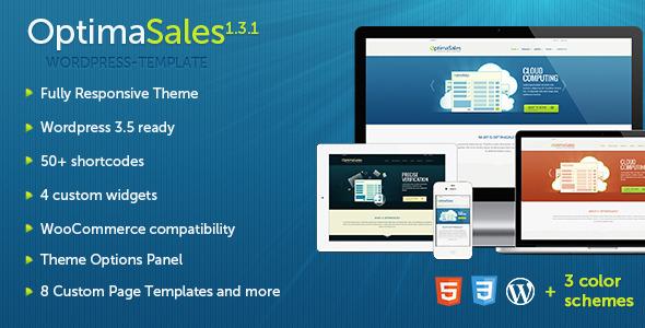 OptimaSales - Responsive WordPress Theme Technology