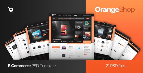 Orange - eCommerce Multipurpose PSD Template Retail