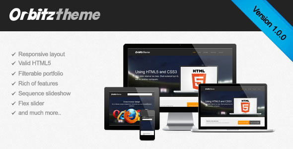Orbitz - Responsive HTML site template Corporate
