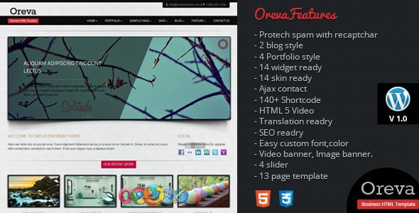 Oreva Premium HTML5 Wordpress Theme Corporate