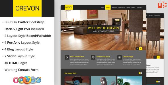 Orevon - Multipurpose HTML5 Responsive Template Corporate