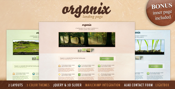 Organix - Simple Product Oriented Landing Page LandingPages