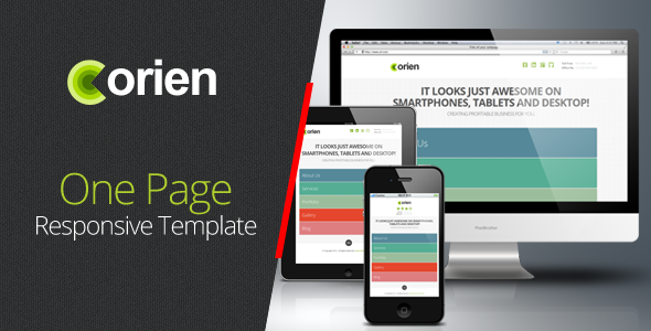 Orien One Page Responsive HTML5 Template Creative