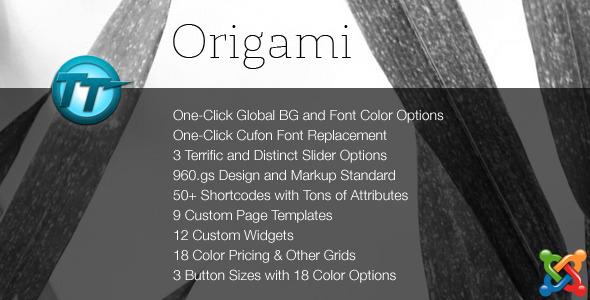 Origami Joomla Theme