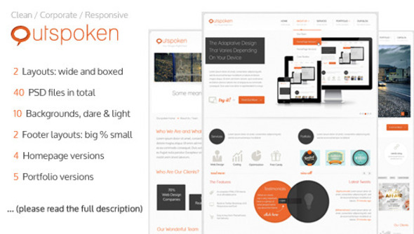 Outspoken - Clean Business PSD Template Corporate