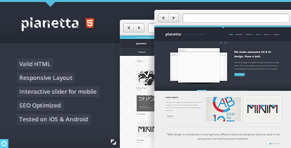 PLANETTA Responsive HTML CSS3 Template Creative
