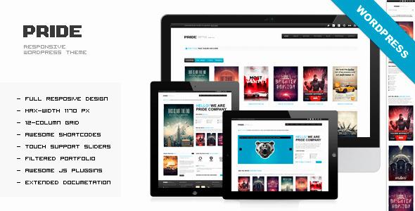 PRIDE - Responsive WordPress Theme Corporate