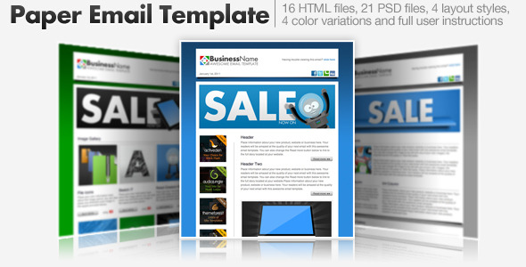 Paper Email Templates - 16 HTML Email Templates EmailTemplates