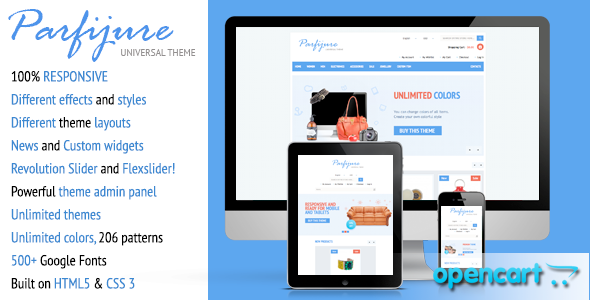 Parfijure – Premium Responsive OpenCart theme! Shopping