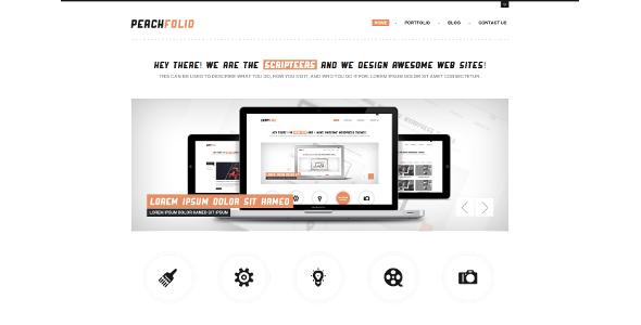 PeachFolio - Premium WordPress Portfolio Theme Creative