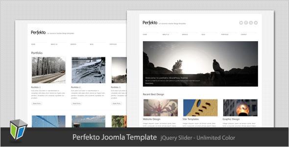 Perfekto - Minimalist Portfolio Joomla Template Creative