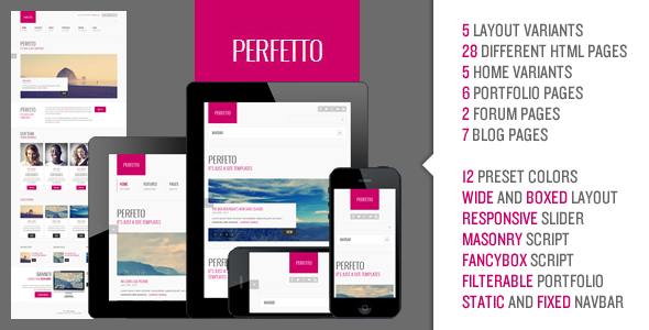 Perfetto - Responsive Bootstrap Template Corporate