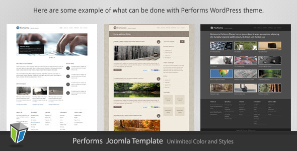 Performs - Corporate Business Joomla Template Corporate