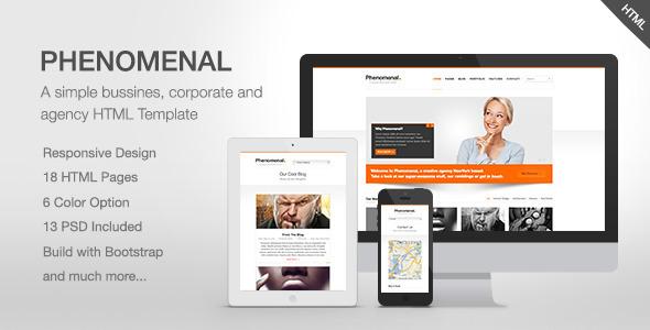 Phenomenal - Responsive HTML5 Theme Template Creative