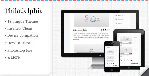 Philadelphia - Minimalistic E-mail Template