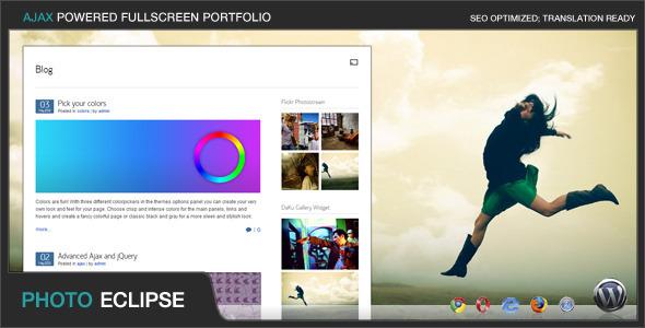 PhotoEclipse - Ajax Powered Portfolio WP Theme WordPress