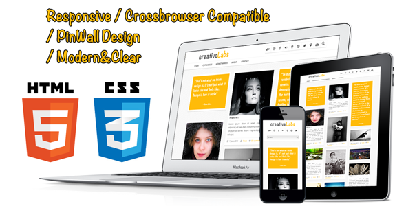PinWall HTML5 and CSS3 Responsive Template Creative