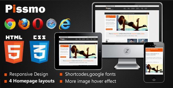 Pissmo Clean Responsive HTML5 Template Creative
