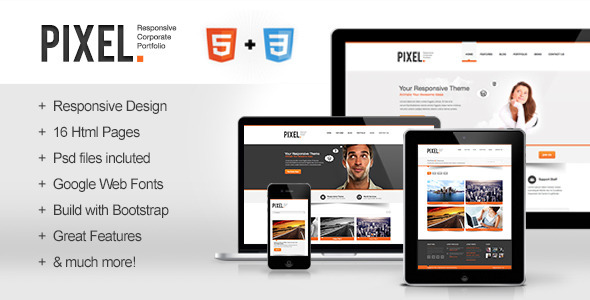 Pixel - Responsive Bootstrap HTML5 Template Corporate