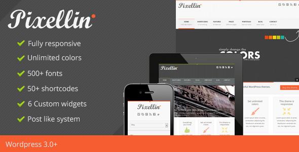 Pixellin - Responsive WordPress Theme Creative