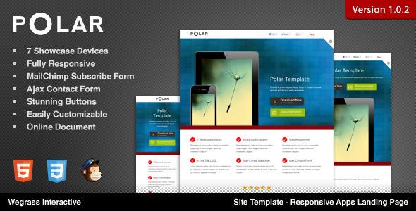 Polar - Responsive Apps Landing Page LandingPages Landing Page
