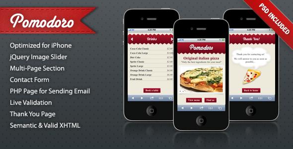 Pomodoro iPhone Landing Page LandingPages Landing Page