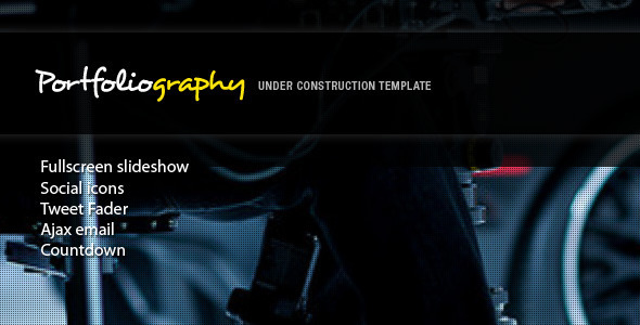 Portfoliography - Fullscreen Under Construction Template
