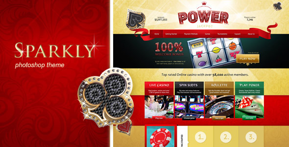 Power Jackpot - sparkly, glossy and shiny PSD Entertainment