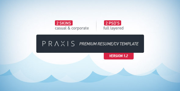 Praxis - Premium Resume/CV Template Specialty Page