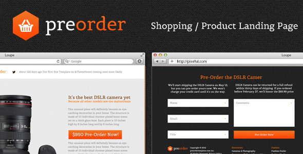 PreOrder - Shopping / Product Landing Page LandingPages Landing Page