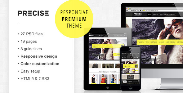 Precise — premium PSD e-commerce template Retail
