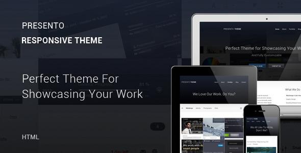 Presento - Responsive Portfolio Theme Template Creative