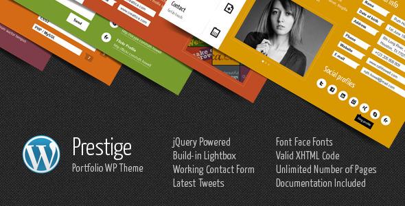 Prestige - Portfolio WordPress Theme Creative