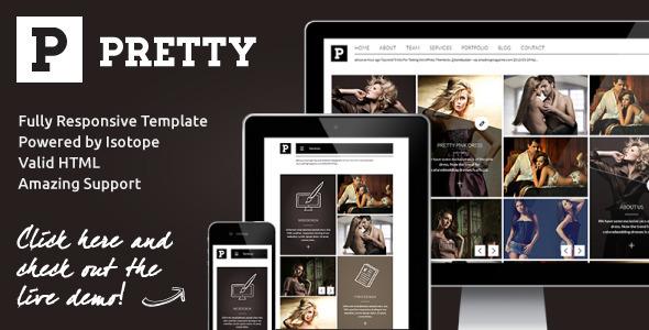 Pretty - Clean & Modern Responsive Portfolio Site