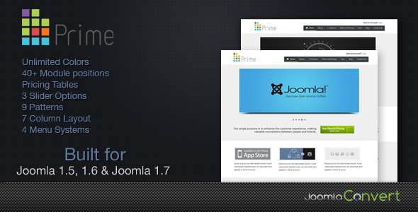 Prime -  Elegant Joomla 1.5 & Joomla 1.6 Template Corporate