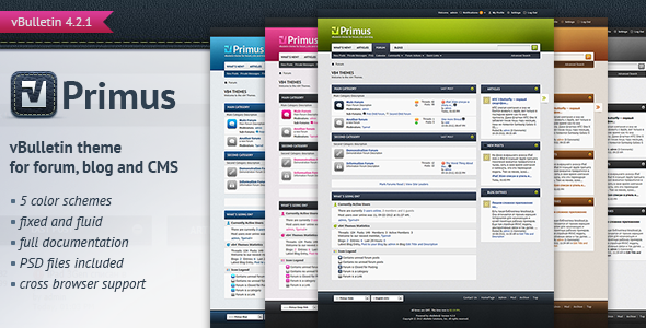 Primus - A Theme for vBulletin 4.2 Suite Forums vBulletin