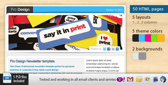 Pro Design Newsletter Template EmailTemplates Email Template