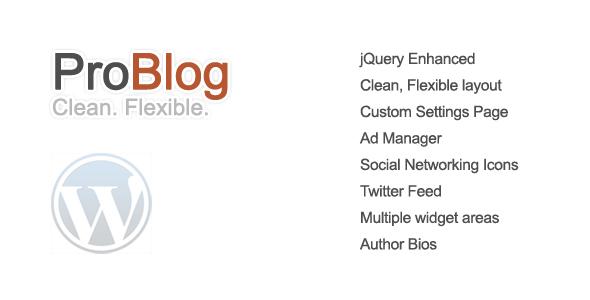 ProBlog - A Flexible Wordpress Theme