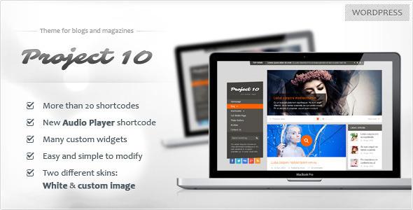Project 10 - Magazine Theme WordPress Blog/Magazine