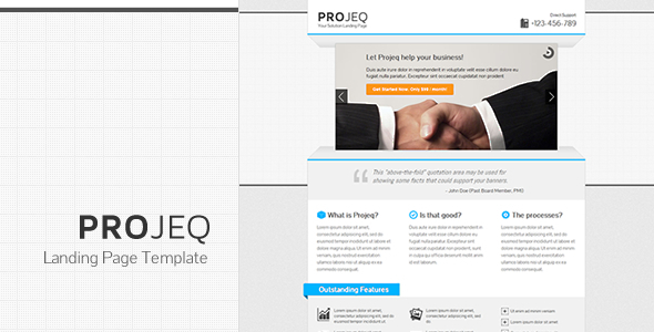 Projeq - Landing Page Template LandingPages Landing Page