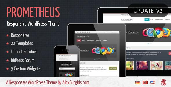 Prometheus - A Responsive WordPress Theme Creative