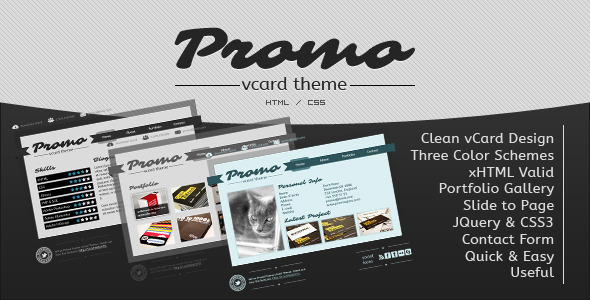 Promo vCard Template Personal