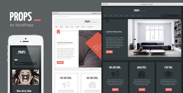 Props, a Responsive Agency WordPress Theme Corporate